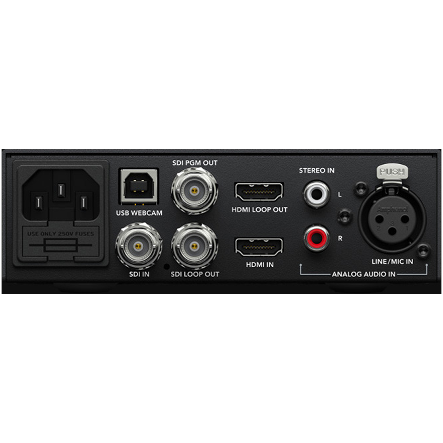 Blackmagic Design Web Presenter - Rear